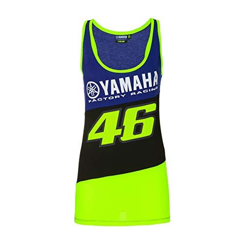 Valentino Rossi Débardeur Femme VR46 Yamaha Factory M1 Racing Officiel MotoGP Bleu - XL