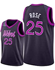 Mannen Mouwloos Jersey-Timberwolves 25 # Derrick Rose Geborduurde Mesh Basketbal Swingman Jersey Ademend Sport Wedstrijd Vest