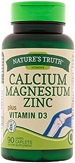 Nature's Truth Calcium, Magnesium, Zinc Plus Vitamin D3 Supplements, 90 Count (Pack of 3)