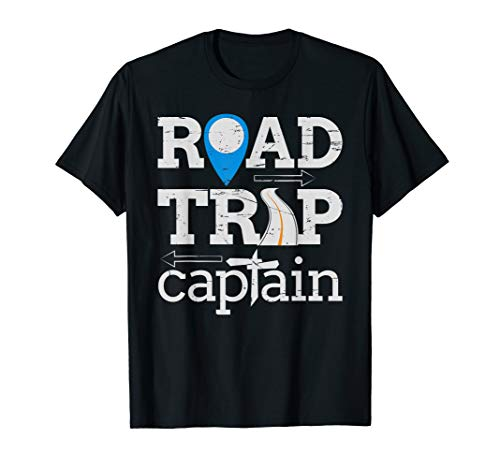 Road Trip Captain design Outdoor RV Camping Group Gift T-Shirt