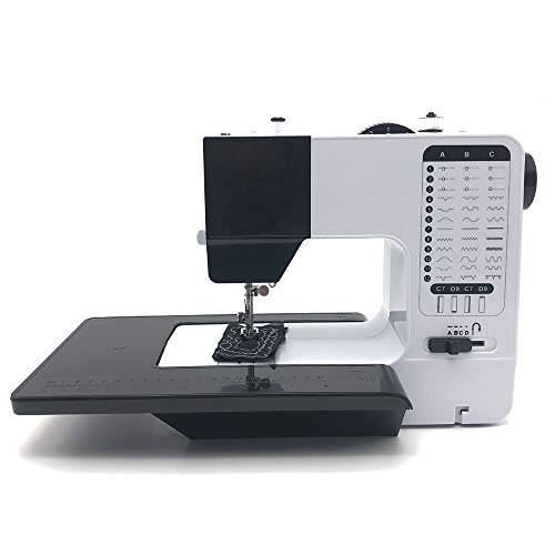 Máquinas de coser LCSD Eléctrica Doble De La Aguja Máquina De Coser Del Hogar Compacto Mini Escritorio De La Máquina De Coser Multifunción 12 Clases De Puntadas Gruesas Comer Ojo De La Cerradura Inver