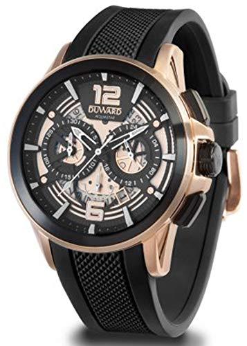 Duward aquastar Race Mens Analog Japanese Automatic Watch with Silicone Bracelet D85530.28