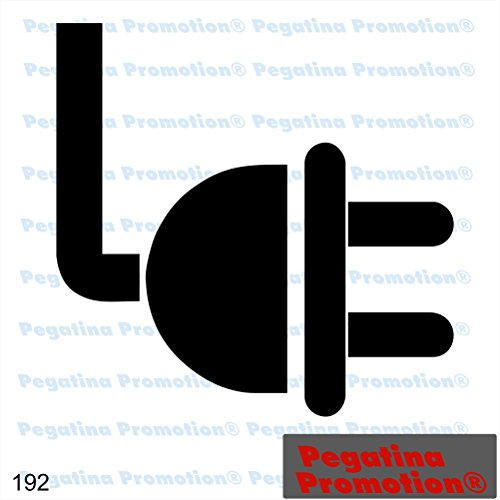 Piktogramm Typ 192 Icon Symbol Zeichen Stecker Strom Energie Elektrizität Aufkleber Sticker ca.15cm von Pegatina Promotion® Aufkleber mit Verklebehilfe von Pegatina Promotion® ohne Hintergrund geplottet