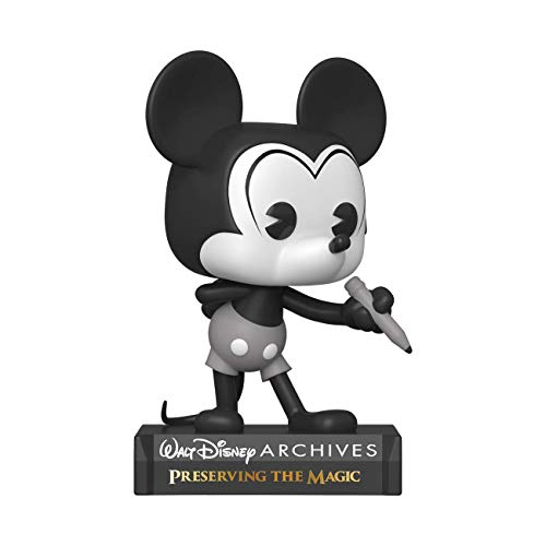 Funko- Pop Disney: Archives-Mickey Mouse (B&W) Figura Coleccionable, Multicolor (49889)