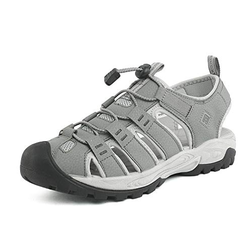 DREAM PAIRS Men's Grey Outdoor Sandals Sport Walking Shoes Size 9.5 M US 181104M