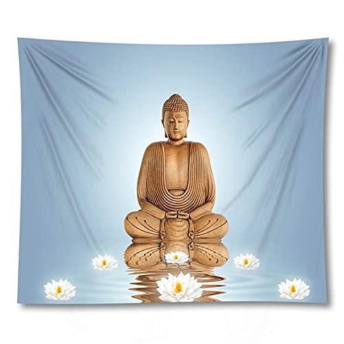 PPOU Tapiz de Buda para Colgar en la Pared, Manta de Playa Cuadrada, Mantel de Mandala, Paredes de Ganesha, tapices para Colgar, Textiles para el hogar, A1 130x150cm