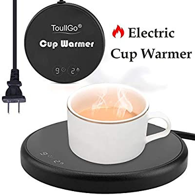Coffee Warmer,Coffee Mug Warmer,Smart Coffee Warmer,Electric Beverage Warmer With Two Temperature Settings, Office/Home Use Electric Cup Beverage Plate,Water,Milk-Best Christmas present