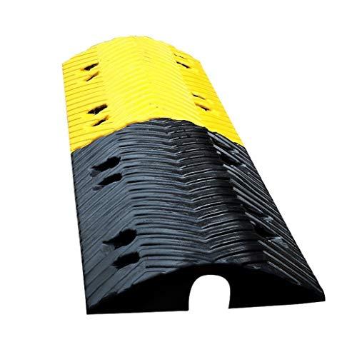 Hoge Kwaliteit Snelweg Vertraging Rampen, Parkeerplaats Veel Garage Buffer Zone Dikker Rubber Vloerbedekking Lijn Multifunctionele Verkeer Veiligheidsproducten Praktische 100 * 35 * 8CM