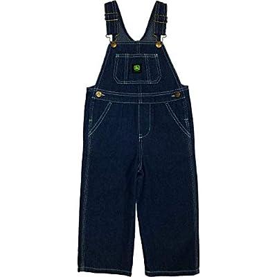 John Deere Boys' Toddler Denim Overall Bib, 2T from John Deere Children's Apparel