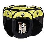 Jaula estilo parque para mascotas de Meiying, ideal para perros y gatos, portátil, plegable, caseta de ejercicio, para...