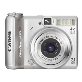 Canon PowerShot A 570 IS Digitalkamera (7 MP, 4-fach opt. Zoom, 6,4cm (2,5 Zoll) Display, Bildstabilisator) silber