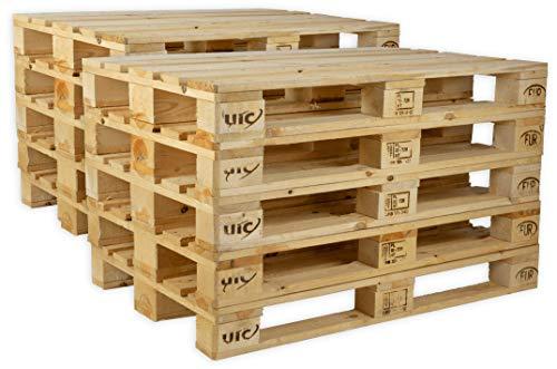 IPPC Europalette NEU - 10 Paletten aus Vollholz - Holzpaletten Maße: 120x80 cm - Fabrikneu