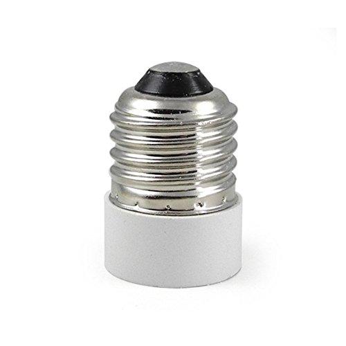 Adaptador de bombilla E27 a E14, adaptador reductor para casquillo de bombilla. Convierte bombillas con casquillo E14 a E27.