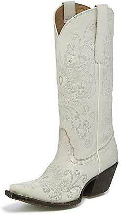 Tony Lama Women's Athos Plush Fresno Mall Boot Ivory Embroidered Sni Cowgirl Super special price