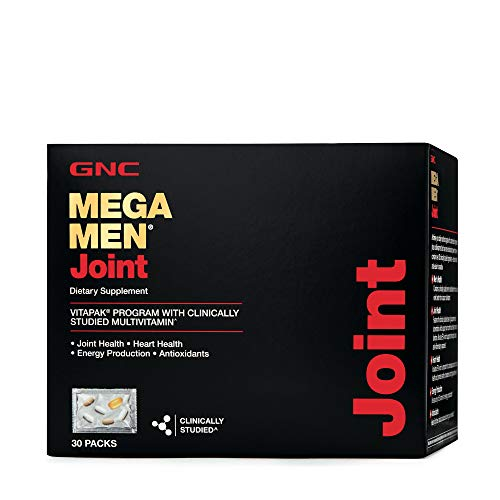 GNC Mega Men Joint Vitapak, 30 Packs, Promotes Joint and Heart Health and Increases Energy