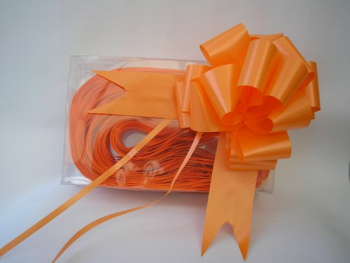 Boda floristería Pullbows Tire arco Pew cinta de coche 18 mm 30 mm 50 mm Tamaño-Naranja