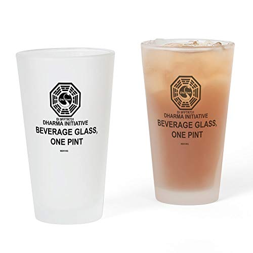 CafePress – Dharma Initiative Pint-Glas, Pint-Glas, 16 oz Trinkglas frosted