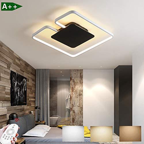 LED plafondlamp dimbaar modern design woonkamer lamp ultradunne plafondlamp met afstandsbediening metaal acryl deco lamp slaapkamerlamp plafondspot keuken eetkamer binnenverlichting 42W