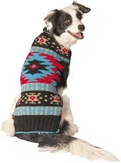 Chilly Dog Black Southwest Dog Sweater, X-Large