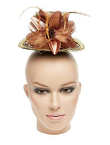 Chapeau : Mini Motif léopard Chapeau de plumes