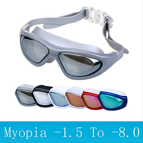EGM Adult Swimming Goggles Diving Mask Anti-Fog Sports Big Frame Swimming Glasses Degree Optical Waterproof Glasses