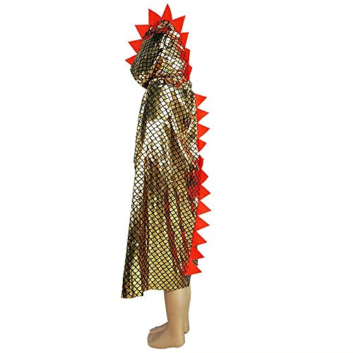 Dinosaur Cape Dragon Hooded Cloak Halloween Costume Boy Girl Toddler Dress Up Clothes 3-8 Years Old...