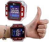 650Nm Láser Fisioterapia - Diodo Terapia Reloj De Pulsera De Los Hogares para Personas Mayores De Presión Arterial Alta Grasa Diabetes Tratamiento Rinitis