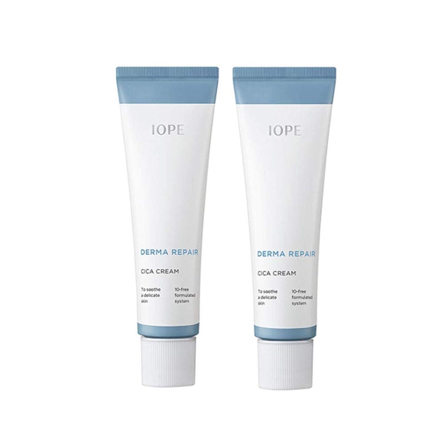 隠予備ケーブルカーアイオペダーマリペアシカクリーム 50mlx2本セット損傷のスキンケア 韓国コスメ、IOPE Derma Repair Cica Cream 50ml x 2ea Set Damaged Skin Care Korean Cosmetics [並行輸入品]