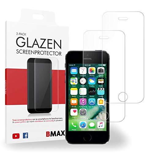 2-pack BMAX Glazen Screenprotector iPhone 5 / 5s / 5c / SE/Beschermglas/Tempered Glass/Glasplaatje