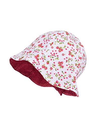 maximo Baby-Mädchen Hut Sonnenhut, Mehrfarbig (hellgrün-rot-erdbeeren/rot 3403), (Herstellergröße: 49)