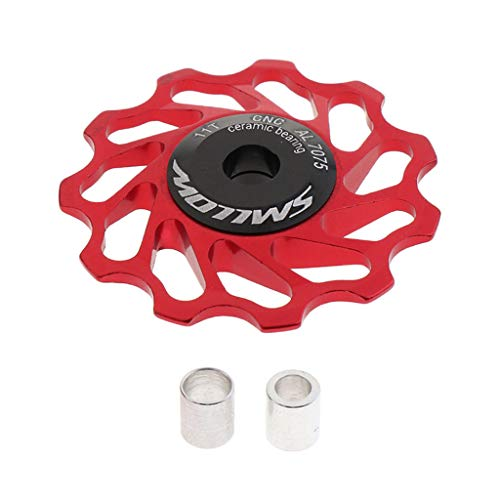 Sharplace Desviador Trasero de Polea de Cojinete de Rueda Jockey de Cerámica 11T para Bicicleta MTB de Carretera - Negro