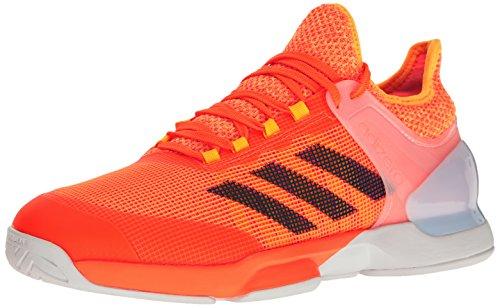adidas Men's Adizero Ubersonic 2 Tennis Shoes, Glow Orange/Mystery Blue/White, (11 M US)