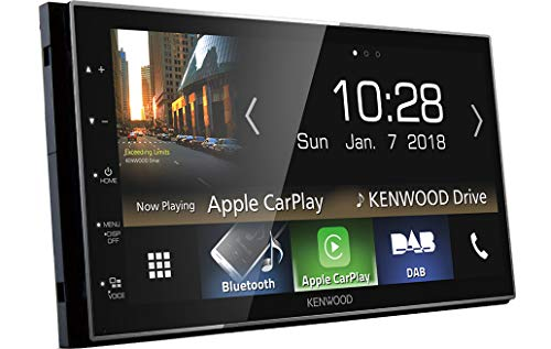 Kenwood Electronics DMX7018DABS Bluetooth Negro Receptor Multimedia para Coche - Radio para Coche (Negro, 2 DIN, 50 W, AAC,FLAC,MP3,WAV,WMA, BMP,JPEG,PNG, H.264,MKV,MPEG1,MPEG2,WMV)