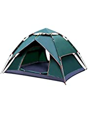 Kvvjvv 3-4 Person Automatic Hydraulic Tent, Portable Instant Family Camping Tent,240x210x135cm