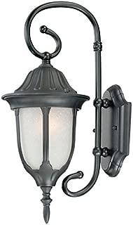 Acclaim 5064BK/FR Suffolk Collection 1-Light Wall Mount Outdoor Light Fixture, Matte Black