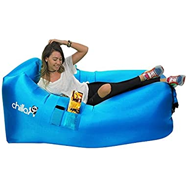 ChillaX Inflatable Lounger - Best Air Lounger for Travelling, Camping, Hiking - Ideal Inflatable Couch for Pool and Beach Parties - Perfect Air Chair for Picnics or Festivals