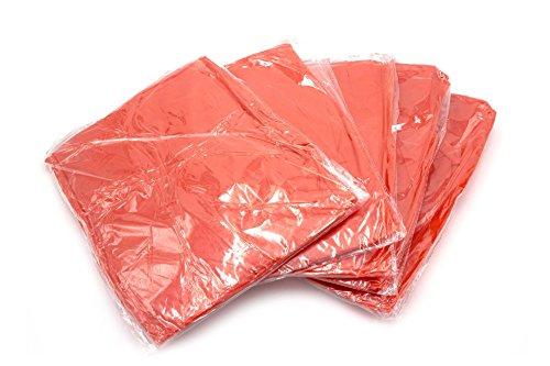vhbw Regenponcho Regenschutz Set mit Kapuze 5 Stück rot besonders geeignet passend für Festival, Camping