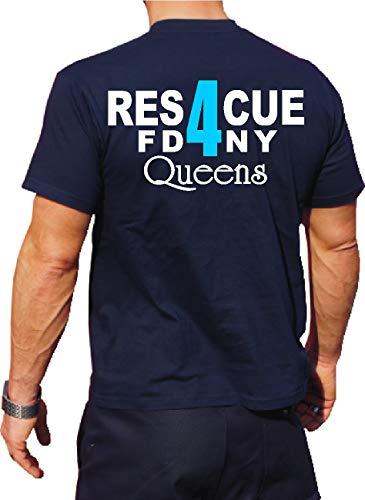 T-Shirt Rescue 4 - Queens - New Yorker Feuerwehr