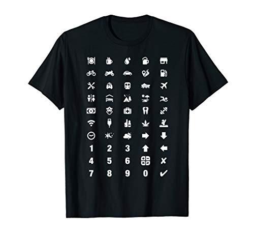 Tourism Travel Translator Icons - Holiday Vacation Language T-Shirt