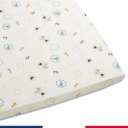 Lenzuolo Con Angoli Per Bambini, Motivo: Tipi Blu, 80X160