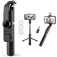 Mqouny Portable All-in-One Professional Travel Tripod with Remote