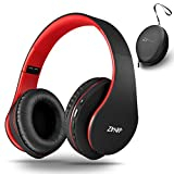 Wireless Over-Ear Headphones with Deep Bass, Foldable Wireless and Wired Stereo...
