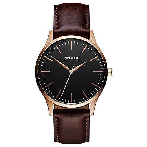 MVMT Watches 40 Series Herren Uhr Rose Gold/Brown Leather MT01RGL