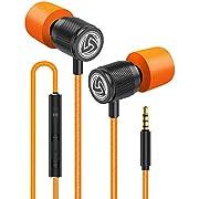 LUDOS Ultra Kopfhörer - In Ear Kopfhörer Kabel, Headphones mit Mikrofon, Kristallklarer Klang, Ausgewogene Höhen und Tiefen, Neuer Memory Foam, Langlebiges Kabel, Bässe, Lautstärkeregelung