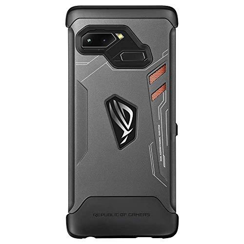 ASUS ROG Phone case - Hintere Abdeckung für Mobiltelefon - Polycarbonat - Titanium Black - für ASUS