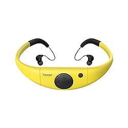powerful Tayogo Waterproof MP3 Player IPX8 8GB Swim Headphones, Random Play-Black