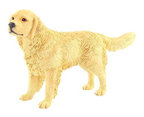 Leonardo Collection - Decorazione a forma di cane golden retriever, in pietra, colore: oro