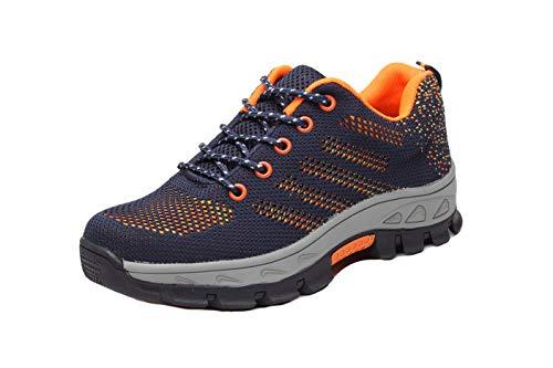 Aizeroth-UK Hombre Zapatillas de Seguridad con Punta de Acero Antideslizante Transpirable S3 Zapatos de Trabajo Comodas Calzado de Trabajo Deportivos Botas de Protección