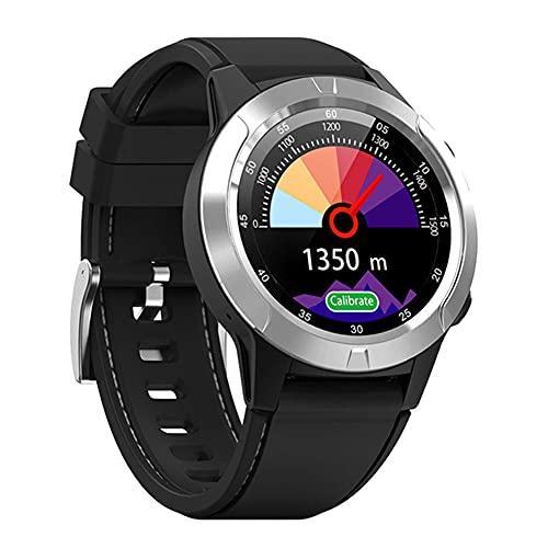 l b s Reloj inteligente, reloj inteligente GPS Bluetooth teléfono, hombres y mujeres IP67 impermeable ritmo cardíaco monitor de presión arterial reloj (A)
