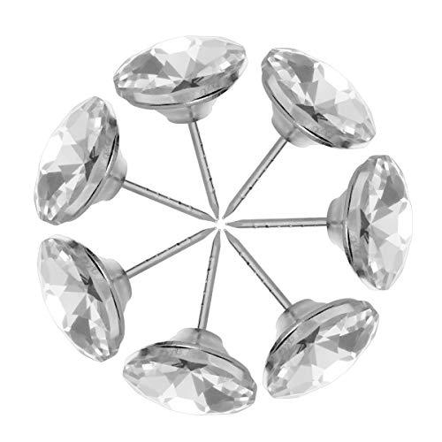 HEALLILY 20 Piezas de Diamantes de imitación Botones de tapicería de Cristal para sofá decoración de la Pared